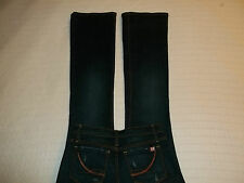 "X2 DENIM JEANS ""USA BootcutFlare Lowrise DarkerBlue Stretch 27 ExNewCondition!"