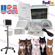 Vital Signs Veterinary Patient Monitor 6 Parameter ICU/CCU+Rolling Stand Cart,US