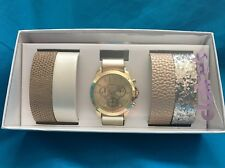 New Claires Gold Ladies Watch With Four Changeable Bands New