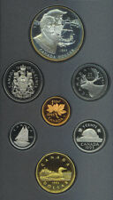Canada 1995 Double Dollar $1 Proof Coin Set Silver COA Box Hudson's Bay