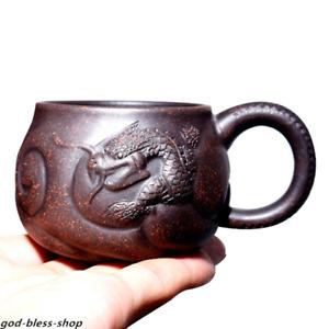full handmade tea cup dragon engraved master cup original ore zisha cup of tea