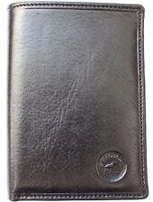 Porte-feuille Cuir Véritable Homme/Femme Noir S5647N 13,5x10,5x3cm boîte cadeaux