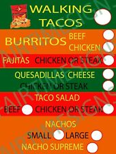 """taco/mexican  00006000 Menu Sign-w/price circles Concession Trailer,Stand,Cart 18""""x24"""" Pvc"""