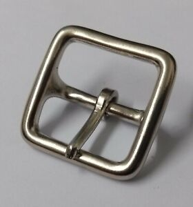 """Genuine British Military Nickel Plate 3/4"""" Buckles for Leather Straps X1 STD137"""