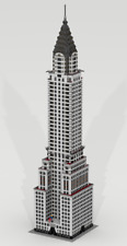 CUSTOM LEGO BUILDING Chrysler Building. New York (USA). GIANT SIZE: 66 inches!!!