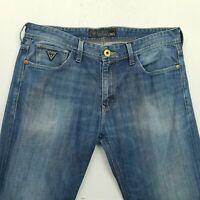 GUESS  Mens  Vintage Jeans W34 L34 Blue Slim Straight