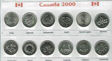 2000 Canadian Brilliant Uncirculated Quarter Commemorative Twelve Coin set!