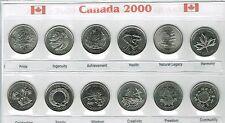 2000 Canadian Brilliant Uncirculated Quarter Commemorative Twelve Coin set!