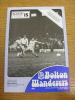 02/01/1984 Bolton Wanderers v Millwall  (cross word completed). Footy Progs (aka