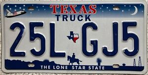 Texas Space Shuttle Truck American License Licence USA Number Plate Tag 25L GJ5