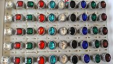 Joblot of 50pcs Mixed Glass Crystal & Antique Fashion Rings - NEW Wholesale B