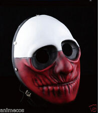 New Payday 2 Game Wolf Cosplay Mask Heist Joker Costume Props Collection
