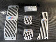 DESIGNER SILVER ALUMINUM PEDAL REST SET fits BMW X1 X3 E46 MANUAL TRANSIMISSION