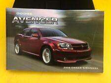 2008 Dodge Avenger Owner`S Manual With Case Oem