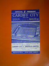 League Division Two - Cardiff City v Sheffield United - 6th September 1958