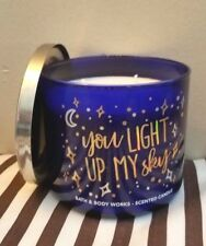 BATH BODY WORKS YOU LIGHT UP MY SKY CANDLE 3 WICK 14.5 OZ LARGE LAVENDER VANILLA