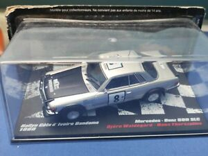 COCHE 1/43, ALTAYA, MODELO MERCEDES BENZ 500 SLC RALLYE BANDAMA 1980, WALDEGARD.