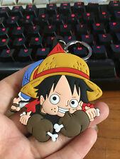 One piece Luffy holding bone silica gel key chain key chains figure pendant ANIM