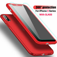 360° Slim Hard Plastic Case Full Cover+Screen Protector For iPhone Xs Max 11 Pro