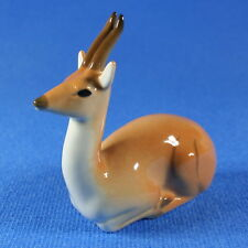 Springbok Antelope Figurine Lomonosov Porcelain Russia USSR LFZ