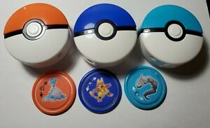 2019 MCDONALDS POKEMAN DISC SHOOTERS 3 Toys with disc's included in lot.
