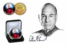 Star Trek-el colectivo chapado en oro de 24 quilates tintados JFK medio dólar moneda