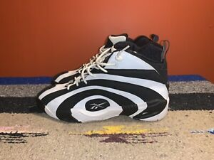 rebook Shaqnosis Retro 2020 Shaquille ONeal Black White Basketball shoes size 12