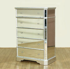 Real Siver Leaf Mirrored Dresser Chest of Drawers  MBG001-ASF-331-29
