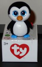 Ty Beanie Boos - Mini Hand Painted Vinyl Figurine - WADDLES Penguin (2 inch) NEW