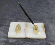 """Vintage Parker Pen """"51 Fountain Pen Magnetic Desk Set Marble"""