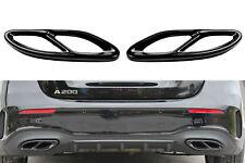 Black Chrom Edelstahl Auspuffblenden Auspuff Abdeckung für Mercedes W177 W205 A2