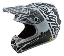 TROY LEE DESIGNS TLD SE4 POLYACRYLITE ADULT HELMET FACTORY SILVER NEW MX CHEAP
