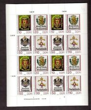 East Germany DDR FULL SHEET Stamps # 2794-2797 Coats of Arms  Postal Workers MNH