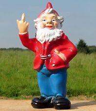 Gartenzwerg mit Stinkefinger 30cm zeigt Mittelfinger Zwerg Figur Gag Deko