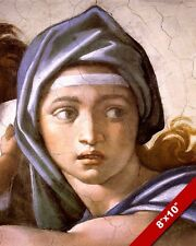 DELPHIC SIBYL PAINTING MICHELANGELO SISTINE CHAPEL CEILING ROME ART CANVAS PRINT