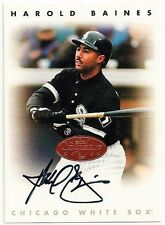 HAROLD BAINES  - SIGNED/AUTO/AUTOGRAPH ON A BASEBALL CARD - CHICAGO WHITE SOX