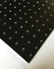 More details for black painted wooden pegboard / display board 600 x 300 x 3mm