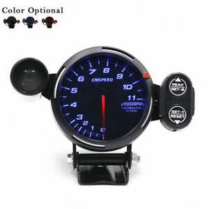 """12V Tachometer Gauge LED 3.5"""" Meter with Shift Light+Stepping Motor RPM Blue LED"""