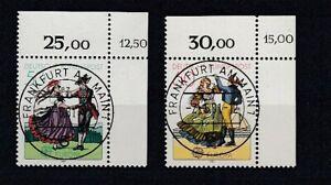 Fédéral 1096/97 Europe Cept 81 Kbwz Timbre à Date Francfort (MNH)