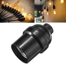 E27 / E26 lampadina titolare lampada  edison presa tappo a vite annata 4a nero