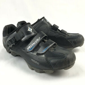 Specialized Motodiva Mountain Bike MTB Shoes Womens 8 Black Leather 3 Strap