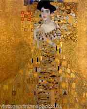 Adele Bloch-Bauer By Gustav Klimt 8x10 Print Rich Woman Portrait Golden Art 120