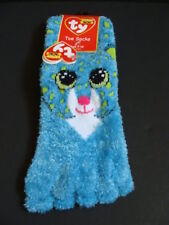 NWT TY Beanie Boos LEONA Leopard Toe Socks Cat Boo Claire's Exclusive 7-12yr NEW