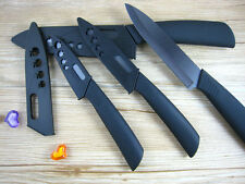 "Blade Sharp Ceramic Knife Set Chef's Kitchen Knives 3"" 4"" 5"" 6"" + Covers In Usa"
