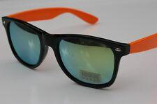 80's Retro Vintage mirror lens sunglasses Black Orange
