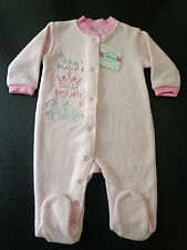 Disney Princess Baby Sleepsuit Pink Soft Fleece 3 To 6 Months  NEW Sealed Bag