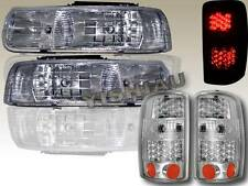2000-2006 CHEVY SUBURBAN/TAHOE CHROME HEADLIGHTS + LED TAIL LIGHTS