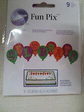 Wilton Celebrate Word Fun Pix Cupcake Topper Deco  9-3.25 in New 2113-0339