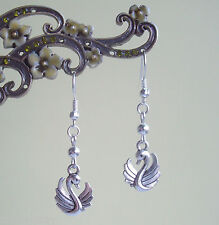 Pretty Swan  Dangly Drop Earrings