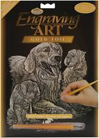 Royal and Langnickel - Engraving Art Set - Golden Retrievers - Gold Foil